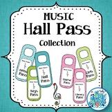 Music Room Hall Pass Door Hangers - Teal & Blooms