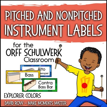 Music Room Instrument Labels, Setup, and Rules - Explorer Color Scheme