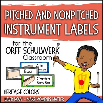 Music Room Instrument Labels, Setup, and Rules - Heritage