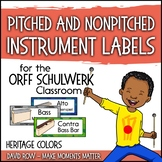 Music Room Instrument Labels, Setup, and Rules - Heritage Color Scheme