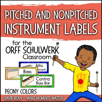 Music Room Instrument Labels, Setup, and Rules - Peony Color Scheme