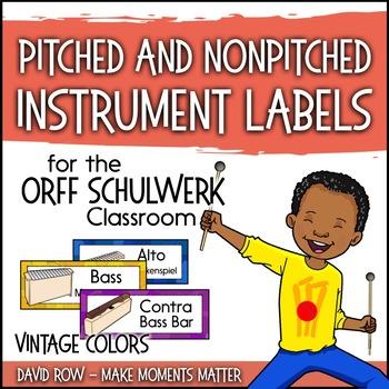 Music Room Instrument Labels, Setup, and Rules - Vintage C