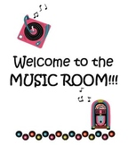 Music Room Labels and Welcome Sign