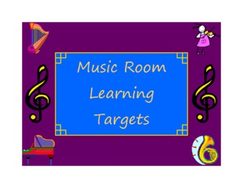 Music Room Learning Target Posters