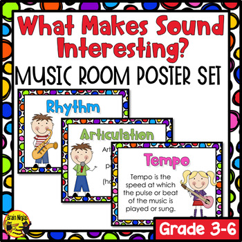 What Makes Sound Interesting? Music Room Poster Set