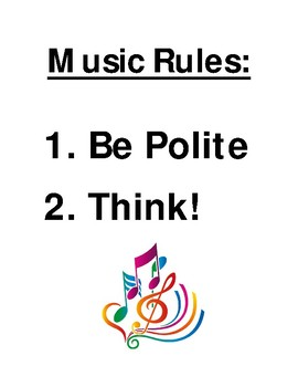 Music Room Posters and Rules