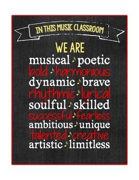 Music Room Printable Poster