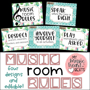 Music Room Rule Set - 4 Designs!