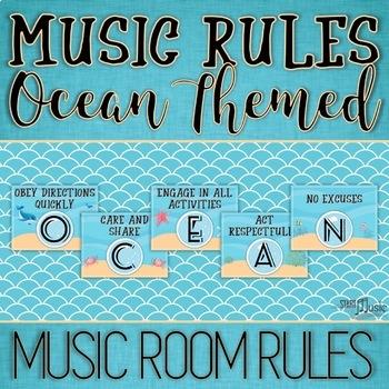 Music Room Rules - Ocean Theme