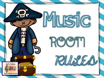 Music Room Rules Pirate Theme