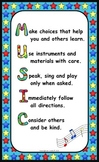 Music Room Rules Poster - Freebie!