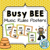 Music Room Rules Posters - Busy Bee Kids