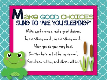 Music Room Rules Posters and Songs {Frog Theme}