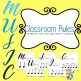 Music Room Rules Rhythm Charts