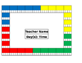 Music Room Seating and Grading Charts