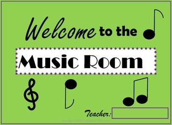 Music Room Sign FREE!
