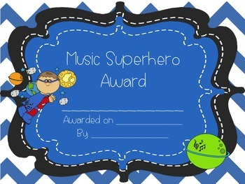 Music Room Superhero Bundle Set
