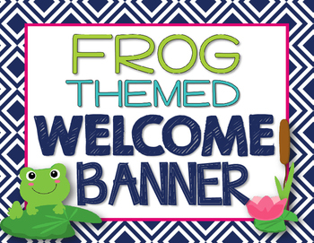 Music Room Welcome Banner {Frog Theme - Leap Into Music}