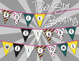 Music Room Welcome Banner {Rock Stars Welcome}