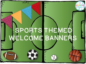 Music Room Welcome Banner (Sports Theme Decor Set)