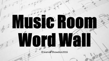 Music Room Word Wall