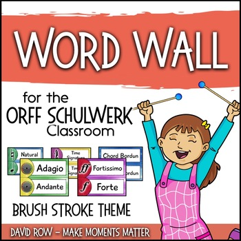 Music Room Word Wall - Brush Strokes Theme