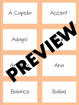 Music Room Word Wall Cards | LCI Movement