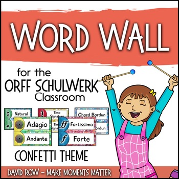 Music Room Word Wall - Colorful Confetti Theme