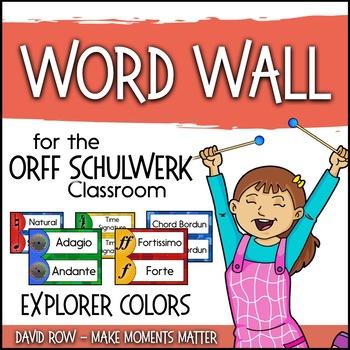 Music Room Word Wall - Explorer Color Scheme