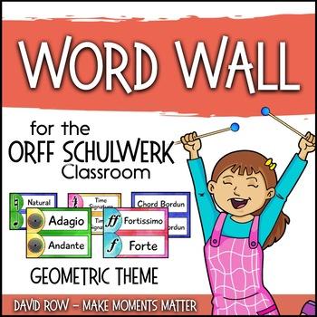 Music Room Word Wall - Geometric Theme