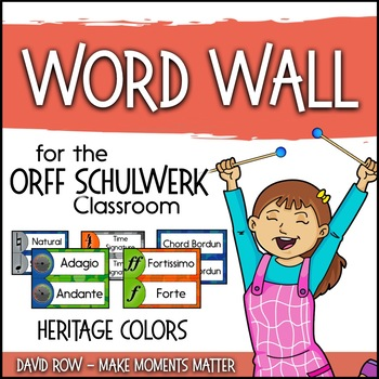 Music Room Word Wall - Heritage Color Scheme