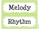 Music Room Word Wall (Turquoise and Lime Green Chevron)