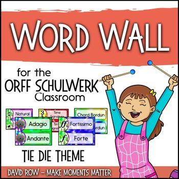 Music Room Word Wall - Tie Dye Theme