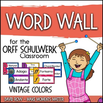 Music Room Word Wall - Vintage Color Scheme