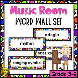 Music Room Word Wall Words- Editable