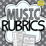 Music Rubrics (Quick Music Assessments)