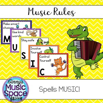 Music Rules Animal Musicians Theme