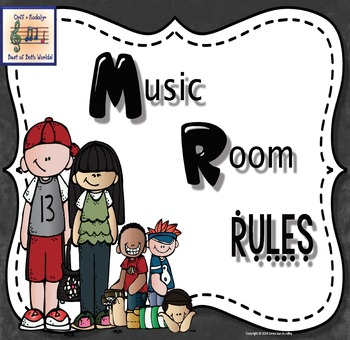 Music Rules Chalkboard Background Version