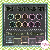 Music Room Rules - Chevron & Chalkboard Theme