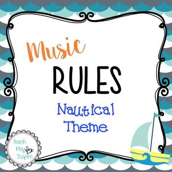 Music Rules - Nautical Theme