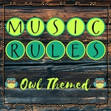 Music Rules - Owl Themed