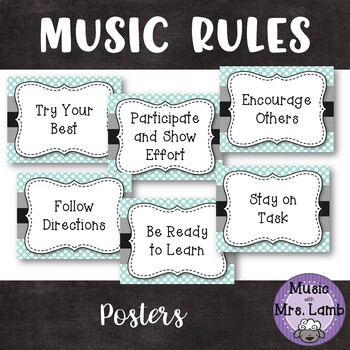 Music Rules Poster Set