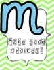 Music Rules Poster Set- Chevron and Pastel Color Design