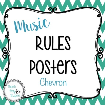 Music Rules Posters - Chevron