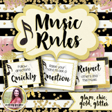 Music Rules Posters {Chic & Glam}