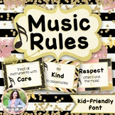 Music Rules Posters: Kid-Friendly Print Font {Chic & Glam