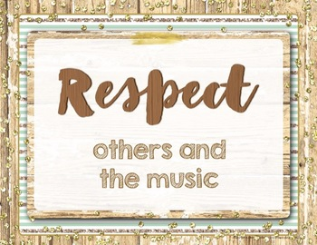Music Rules Posters {Rustic Farmhouse Glam 8.5x11 Posters}