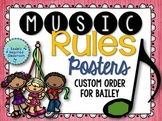 Music Rules- Posters and Songs {Custom Order Set}