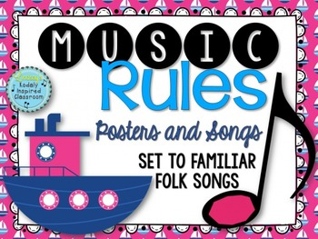 Music Rules- Posters and Songs {Nautical Set}