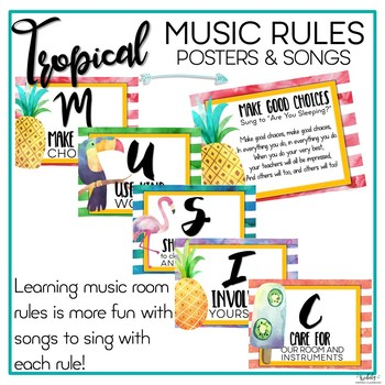 Music Rules - Posters and Songs {Tropical Theme}